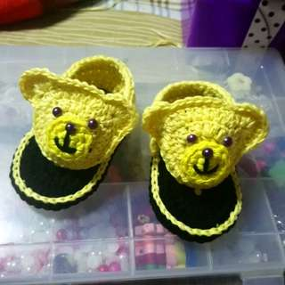 Crochet sandals for baby boy