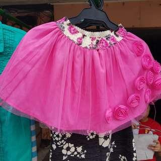 Flower Designed Skirt for 6 yrs old
