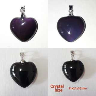 🎆Special Offer🎆 Very nice Rainbow Obsidian pendant. Heart shape. 925 silver bail.