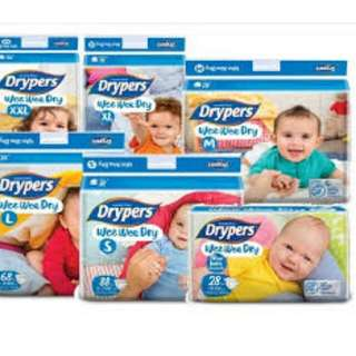 **Promotion** Drypers All Sizes