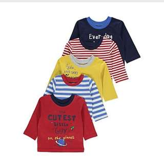 5 Pack Striped and Slogan Top