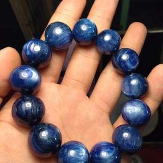 🚚 藍晶 手串 收藏等級 20mm 無燒