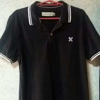 Regatta polo shirt black white Medium