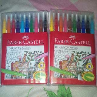 Faber-castell brush tip markers