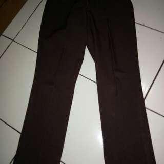 celana panjang bahan coklat