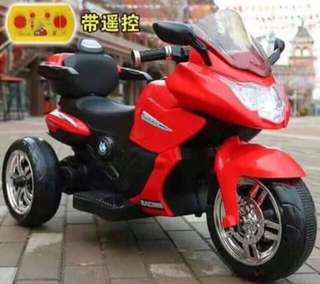Red Large BMW 5188 Rubber Tires Rechargeable Ride On Motorcycle Big Bike