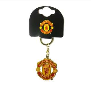 Manchester united official merchandise key ring MU big logo gantungan kunci