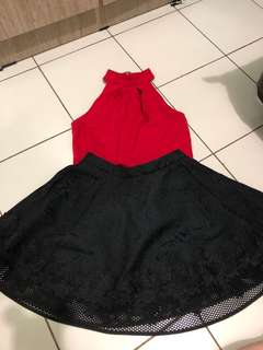 Top and flare skirt