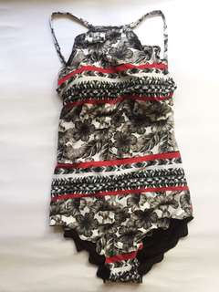 One piece floral and black