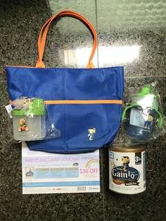 Similac Gain IQ 3, carry bag, sippy cup, $30 voucher & milk powder dispenser