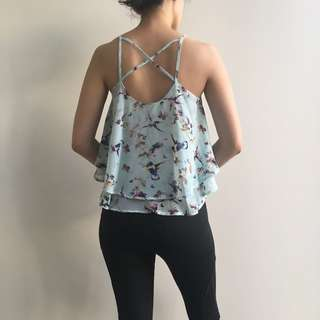 Butterfly frills top