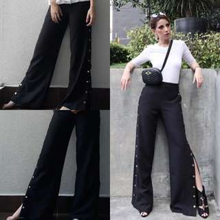 Fashion Valet Dressing Paula Button Flare Pants
