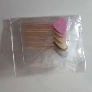 Cake topper heart shape x10pcs