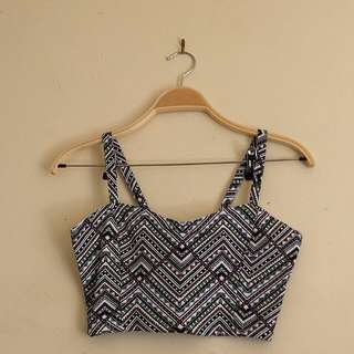 Aztec crop top with cute back detail