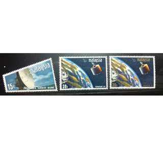 MALAYSIA 1967 SATELLITE EARTH STATION SG 61 - 63 MNH FRESH