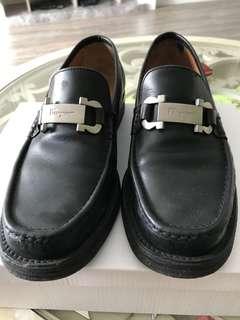 ferragamo 皮鞋 台灣公司貨 男款25.5 女生也可穿