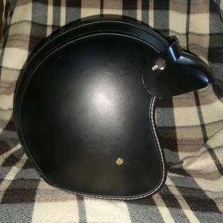 Voss Classic Leather Helmet Size XL
