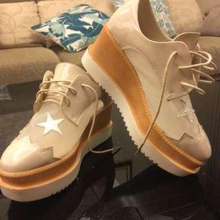 紗網厚底鞋