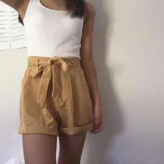 Yellow playsuit shorts