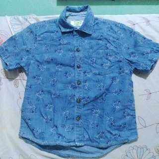 Polo Shirt in Denim Style