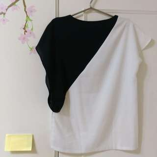 【正韓】黑白短袖上衣