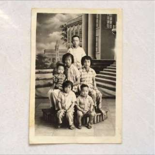 Vintage Old Photo - Nice Siblings Group Photograph