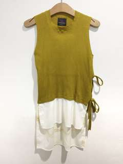 Plains and Prints knitted top (with stain)