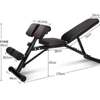 Multifunctional Roman Chair Dumbbell  Bench Supine Board.