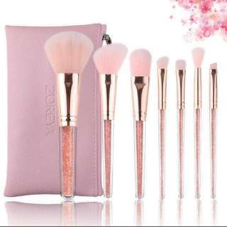Pink Diamond makeup brush set for beginners