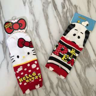 史奴比 hello kitty 襪子