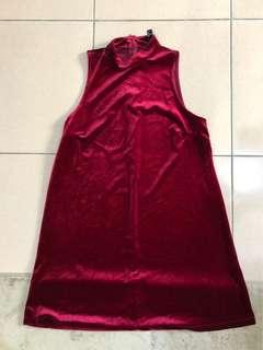 絲絨無袖洋裝