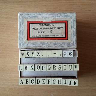 standard rubber type co.,ltd peg alphabet set size 3