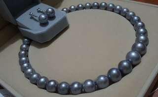 Freshwater pearl earring and choker