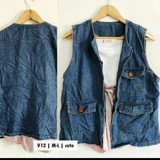 Repeiced Denim vest