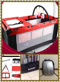 Playpen + diaper bag