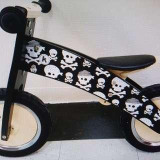 Kiddimoto Skullz Wooden Balance Bike for 3-5 years