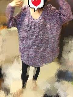 日韓寬鬆混針毛衣