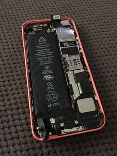 iPhone 5c Pink (Working but missing screen)