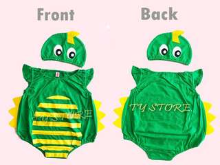 Baby dinosaur romper with hat