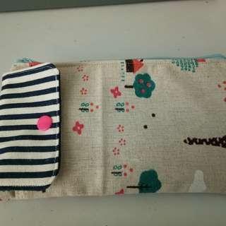 Handmade 2 in 1 handphone + cash bag