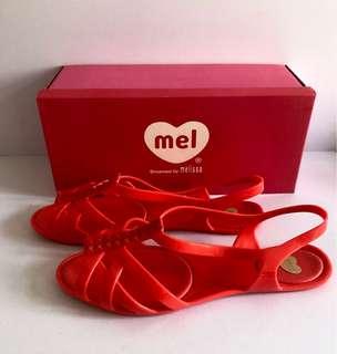 Melissa 香香鞋 巴西尺寸39/40(Mel 亮麗編織涼鞋-鮮紅色)