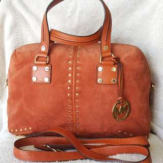 Auth Coach Astor Satchel 2way in Orange Suede coach kat spade