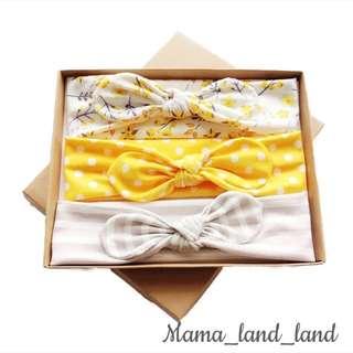 <Gift Set 🎁 > Lovely Baby Print Cotton Ribbon Headband (3pcs@Set) ~ Special price