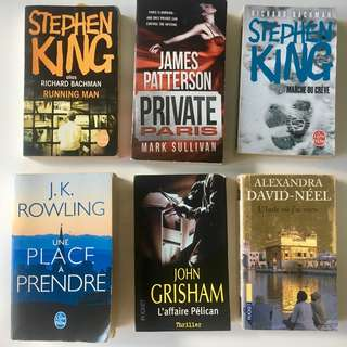 French/English Novel Books