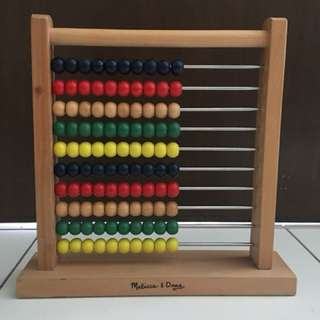 Melissa and Doug Abacus Classic Wooden Toy
