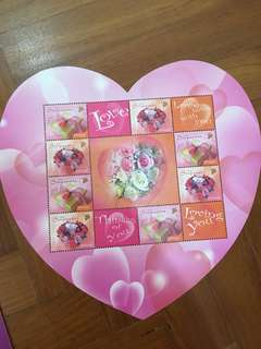 Collectible valentine day stamp