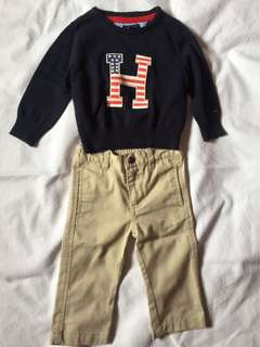 Authentic Tommy Hilfiger Shirt and Pants