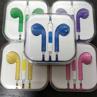Apple wired Earphone + microphone - set of 5 pcs - new