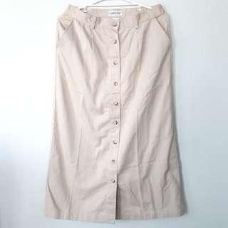 Khaki Long Skirt
