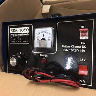 King Toyo Analog Battery Charger 12/24V 15AMP